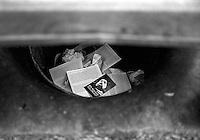 Berkeley trash can, 1987. &amp;#xA;<br />