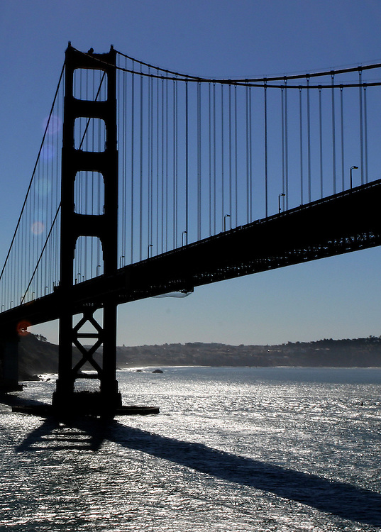 October 16, 2005; San Francisco, CA, USA; Aerial view of the Golden Gate Bridge in San Francisco, CA. Photo by: Phillip Carter