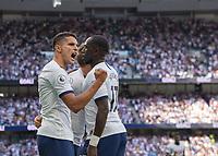 Erik Lamela of Tottenham Hotspur celebrates scoring during the Premier League match between Tottenham Hotspur and Crystal Palace at Wembley Stadium, London, England on 14 September 2019. Photo by Vince  Mignott / PRiME Media Images.
