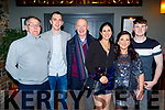 Jimmy Browne, Paul Dennehy, Jerry Hannifin, Marzana Sanpolska, Sarah Whitehead and Dylan O'Shea enjoying their Garveys Supervalu Christmas party in the Ashe Hotel on Saturday.