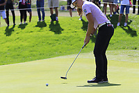 Brooke M. Henderson (USA) putts on the 6th green during Thursday's Round 1 of The Evian Championship 2018, held at the Evian Resort Golf Club, Evian-les-Bains, France. 13th September 2018.<br /> Picture: Eoin Clarke | Golffile<br /> <br /> <br /> All photos usage must carry mandatory copyright credit (© Golffile | Eoin Clarke)