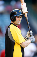 Neil Walker #18 of the Pittsburgh Pirates before a game against the Los Angeles Angels at Angel Stadium on June 21, 2013 in Anaheim, California. (Larry Goren/Four Seam Images)