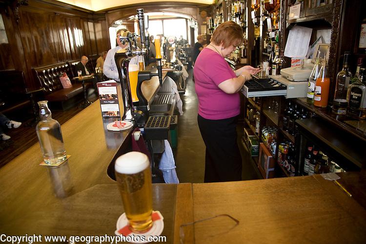 Pint of beer on bar, The Grill Bar, Aberdeen, Scotland