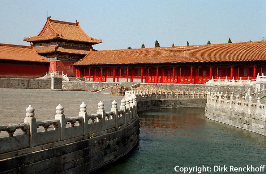 Goldwasserfluss im Kaiserpalast, Peking, China, Unesco-Weltkulturerbe
