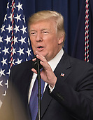 United States President Donald J. Trump makes remarks at a set of panel discussions titled &quot;Conversations with the Women of America&quot; at the White House in Washington, DC on Tuesday, January 16, 2018.  The President's remarks touched on the economy, healthcare, combatting the opioid crisis and national security.<br /> Credit: Ron Sachs / CNP