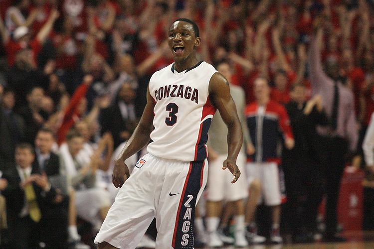 LAS VEGAS, NV - MARCH 7:  Demetri Goodson during the Gonzaga Bulldogs 77-62 win over Loyola Marymount in the WCC Basketball Tournament on March 7, 2010 at Orleans Arena in Las Vegas Nevada.