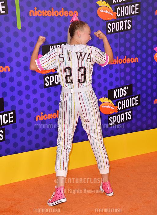 JoJo Siwa at the Nickelodeon Kids' Choice Sports Awards 2018 at Barker Hangar, Santa Monica, USA 19 July 2018<br /> Picture: Paul Smith/Featureflash/SilverHub 0208 004 5359 sales@silverhubmedia.com