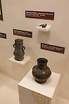 "Vessels from the BC era, part of ""Terra Cotta Warriors: The Emperor's Painted Army,"" Exhibit directly from Xian in the Shaanxi Province, China debuted in 2014 at the Children's Museum, Indianapolis, Indiana, USA"