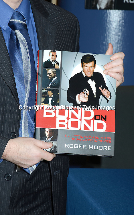 "The Book  at the  signing of his new book "" Bond on Bond"" on November 9, 2012 at Barnes and Noble on 18th and 5th Avenue in New York City."