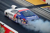 Jun. 29, 2012; Joliet, IL, USA: NHRA pro stock driver Ron Krisher during qualifying for the Route 66 Nationals at Route 66 Raceway. Mandatory Credit: Mark J. Rebilas-