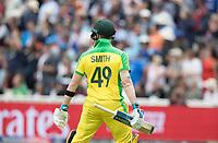 Steve Smith (Australia) looks back at the big screen - run out during Australia vs England, ICC World Cup Semi-Final Cricket at Edgbaston Stadium on 11th July 2019