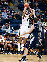 Jorge Gutierrez of California shoots the ball during the game against UC Irvine at Haas Pavilion in Berkeley, California on November 11th, 2011.  California defeated UC Irvine, 77-56.