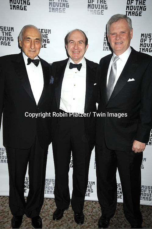 George S Kaufman, Philippe Dauman and Randy Falco attend the Museum of the Moving Image Benefit honoring Philippe Dauman of Viacom, Randy Falco of Univision and George S Kaufman of Kaufman Astoria Studios on April 19, 2012 at The St Regis Hotel in New York City.