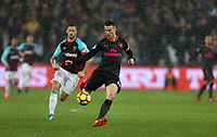 Arsenal's Laurent Koscielny<br /> <br /> Photographer Rob Newell/CameraSport<br /> <br /> The Premier League - West Ham United v Arsenal - Wednesday 13th December 2017 - London Stadium - London<br /> <br /> World Copyright &copy; 2017 CameraSport. All rights reserved. 43 Linden Ave. Countesthorpe. Leicester. England. LE8 5PG - Tel: +44 (0) 116 277 4147 - admin@camerasport.com - www.camerasport.com