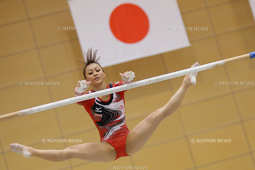 Rie Tanaka (JPN), September 19, 2011 - Artistic Gymnastics : Rie Tanaka exercises during the Japanese national team training session at Ajinomoto National Training Center, Tokyo, Japan. (Photo by Yusuke Nakanishi/AFLO SPORT) [1090]