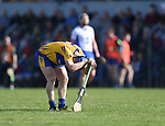 Podge Collins of Clare laments a missed chance of a point during their National League game against Waterford at Cusack Park. Photograph by John Kelly.