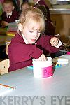 Olivia Gleeson playing on her first day at Knockaderrry NS, Farranfore.   Copyright Kerry's Eye 2008