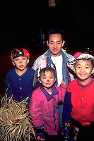 Halloween trick or treaters ages 8 with dad age 35.  St Paul  Minnesota USA