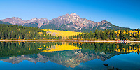 Reflection of Pyramid Mountain in Pyramid Lake