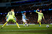 David Silva of Manchester City has a shot on goal during the UEFA Champions League Group C match between Manchester City and Dinamo Zagreb at the Etihad Stadium on October 1st 2019 in Manchester, England. (Photo by Daniel Chesterton/phcimages.com)<br /> Foto PHC/Insidefoto <br /> ITALY ONLY