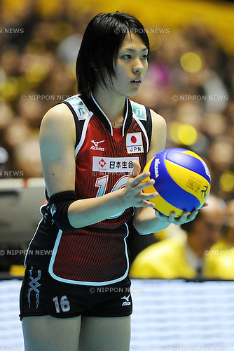 File Photo of Saori Sakoda (JPN), OCTOBER 29, 2010 - Volleyball : 2010 FIVB Women's Volleyball World Championship First Round Pool A match between Poland 2-3 Japan at Yoyogi 1st Gymnasium in Tokyo, Japan. (Photo by AZUL/AFLO).