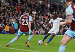 Victor Moses of Chelsea scores the second goal during the premier league match at the Turf Moor Stadium, Burnley. Picture date 19th April 2018. Picture credit should read: Simon Bellis/Sportimage