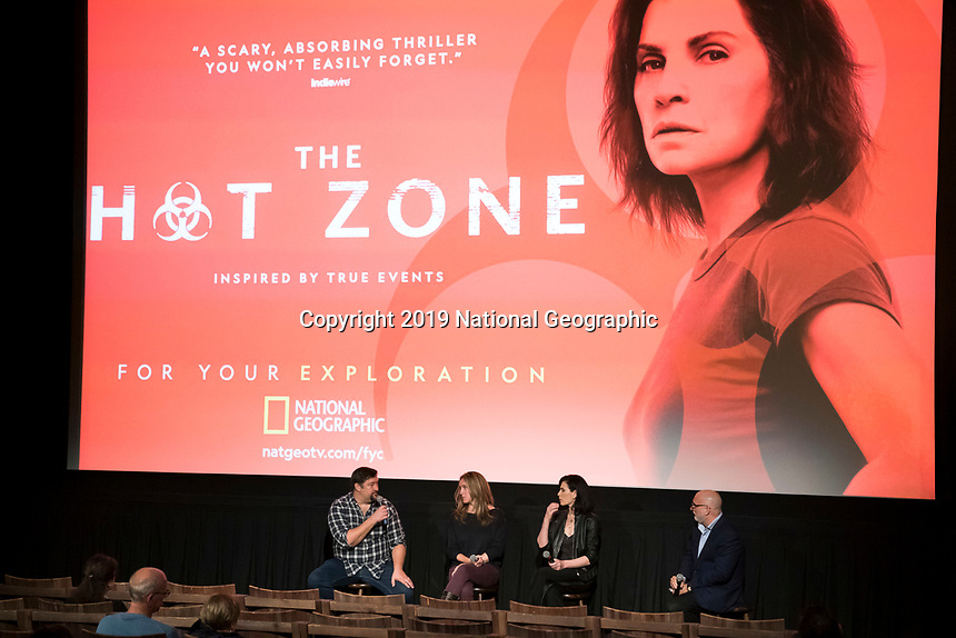 "NEW YORK - MAY 23: Brian Peterson, Kelly Souders and Julianna Margulies attends an FYC event for National Geographic's ""The Hot Zone"" at Metrograph on May 23, 2019 in New York City. (Photo by Ben Hider/National Geographic/PictureGroup)"