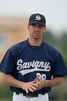 21 May 2009: Pierrick Lemestre of Savigny is seen coaching during the 2009 challenge de France, a tournament with the best French baseball teams - all eight elite league clubs - to determine a spot in the European Cup next year, at Montpellier, France.