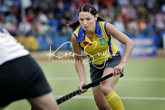 NLD-20050815-DUBLIN- EK HOCKEY dames. De aanvoerder van de Oekraine, Tetyana Kobzenko, zal het komende hockeyseizoen voor Amsterdam uitkomen.ANP FOTO/KOEN SUYK
