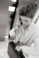 Businesswoman rushing.