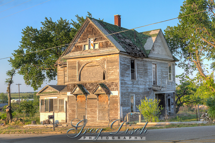 The Steffleback House, a former bordello in the late 1800's and reported site of the murder of 30 miners.  Located on Route 66 in Galena Kansas.