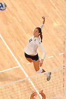 Stanford, CA - OCTOBER 31:  Outside hitter Alix Klineman #10 of the Stanford Cardinal during Stanford's 25-22, 25-23, 25-18 win against the Washington Huskies on October 31, 2008 at Maples Pavilion in Stanford, California.