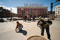 Wyoming and Colorado wildlife biologists gather in downtown Cheyenne, Wyo., to learn photography, Thursday, March 6, 2008. Wyoming is suddenly on the political landscape as the Democrats battle for the nomination in each available state. (Kevin Moloney for the New York Times)