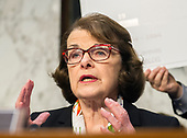 "United States Senator Dianne Feinstein (Democrat of California) makes an opening statement before hearing testimony before the United States Senate Committee on the Judiciary during ""an oversight hearing to examine the Parkland shooting and legislative proposals to improve school safety"" on Capitol Hill in Washington, DC on Wednesday, March 14, 2018.<br /> Credit: Ron Sachs / CNP"