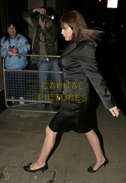 SADIE FROST.UK FIFI  Awards for the Fragrance Industry,.The Dorchester Hotel, London, .April 25th 2005..full length walking black jacket skirt suit.Ref: AH.www.capitalpictures.com.sales@capitalpictures.com.©Adam Houghton/Capital Pictures.