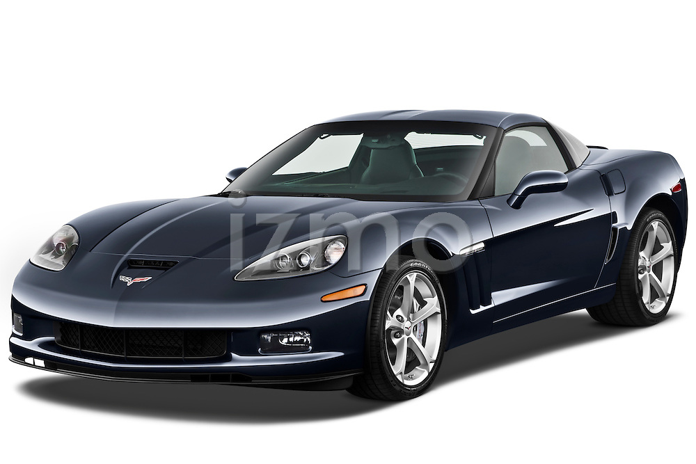 Front three quarter view of a 2010 Chevrolet Corvette GS Coupe