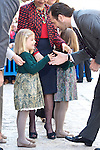 Spanish King Juan Carlos I, Queen Sofia of Spain, Prince Felipe of Spain, Princess Letizia of Spain, Infanta Leonor of Spain, Infanta Sofia of Spain and Princess Elena of Spain attend Easter Mass on April 8, 2012 in Palma de Mallorca, Spain..Photo: Billy Chappel / ALFAQUI..