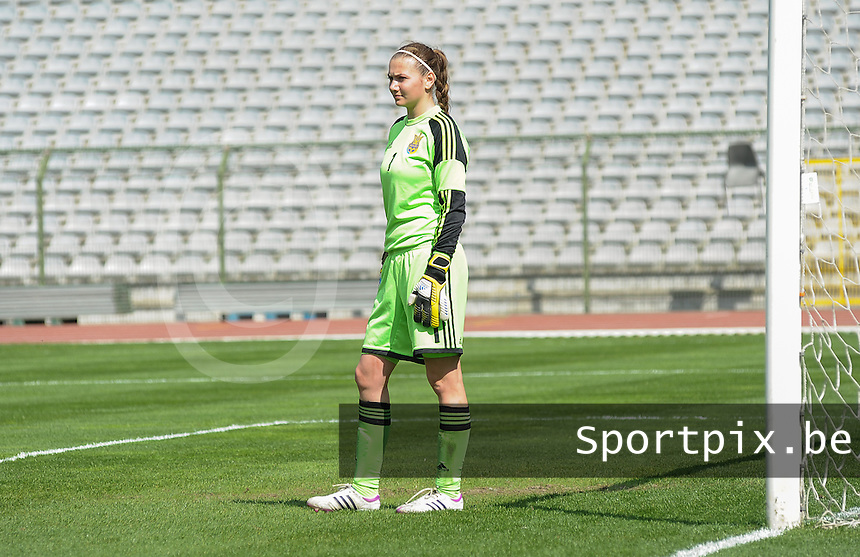 Belgium U19 - Ukraine U19 : <br /> <br /> Ukraine U19 : Albina Fomchenko<br /> <br /> foto Dirk Vuylsteke / Nikonpro.be