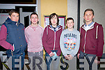 16TH: On Saturday night Eric Blennerhassett Spa, woh celebrated his 16th birthday in Ill Pandora Restaurant, Princess Street, Tralee, l-r: Bobby O'Regan,Aiden Leahy, Eric Blennerhassett, Colm Leahy and Brian