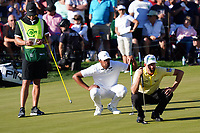 Tony Finau (USA) & Webb Simpson (USA) In action during the final round of the Waste Management Phoenix Open, TPC Scottsdale, Phoenix, Arizona, USA. 01/02/2020<br /> Picture: Golffile | Phil INGLIS<br /> <br /> <br /> All photo usage must carry mandatory copyright credit (© Golffile | Phil Inglis)