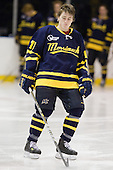 Shawn Bates (Merrimack - 17) - The Merrimack College Warriors defeated the visiting Sweden Under 20 team 4-1 on Tuesday, November 2, 2010, at Lawler Arena in North Andover, Massachusetts.