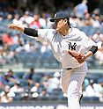 Masahiro Tanaka (Yankees), JULY 23, 2015 - MLB : New York Yankees starting pitcher Masahiro Tanaka throws the ball during a baseball game against the Baltimore Orioles at Yankee Stadium in New York, United States. (Photo by AFLO)