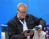 1st October 2017, Hillsborough, Sheffield, England; EFL Championship football, Sheffield Wednesday versus Leeds United; A Leeds Utd fan reading todays match program