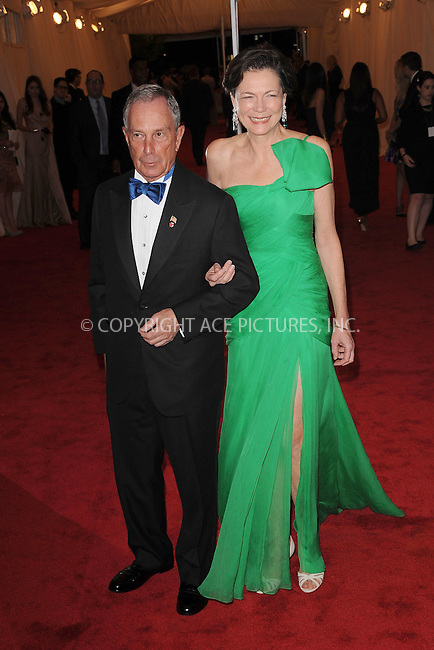 "WWW.ACEPIXS.COM . . . . . .May 7, 2012...New York City....Mayor Michael Bloomberg and Diana Taylor attending the ""Schiaparelli and Prada: Impossible Conversations"" Costume Institute Gala at The Metropolitan Museum of Art in New York City on May 7, 2012  in New York City ....Please byline: KRISTIN CALLAHAN - ACEPIXS.COM.. . . . . . ..Ace Pictures, Inc: ..tel: (212) 243 8787 or (646) 769 0430..e-mail: info@acepixs.com..web: http://www.acepixs.com ."