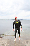 "Graham Kelly at the Clogherhead ""Round the Head Swim"".....(Photo credit should read Jenny Matthews/NEWSFILE)..."