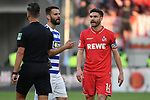 10.04.2019, Schauinsland-Reisen-Arena, Duisburg, GER, 2. FBL, MSV Duisburg vs. 1. FC Koeln,<br />  <br /> DFL regulations prohibit any use of photographs as image sequences and/or quasi-video<br /> <br /> im Bild / picture shows: <br /> Jonas Hector (FC Koeln #14),  regt sich auf <br /> <br /> Foto &copy; nordphoto / Meuter