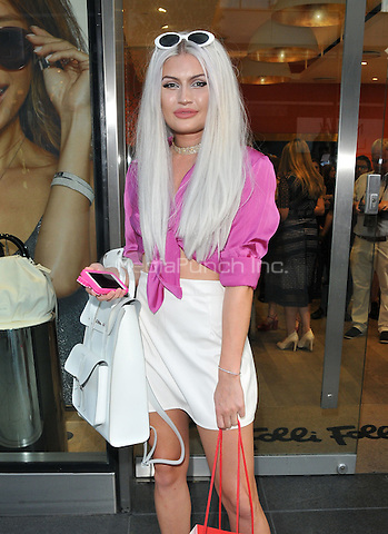 Cassyette at the Folli Follie x HELLO! Magazine party, Folli Follie, Park House, Oxford Street, London, England, UK, on Thursday 25 August 2016.<br /> CAP/CAN<br /> &copy;CAN/Capital/MediaPunch  **USA and South America Only**