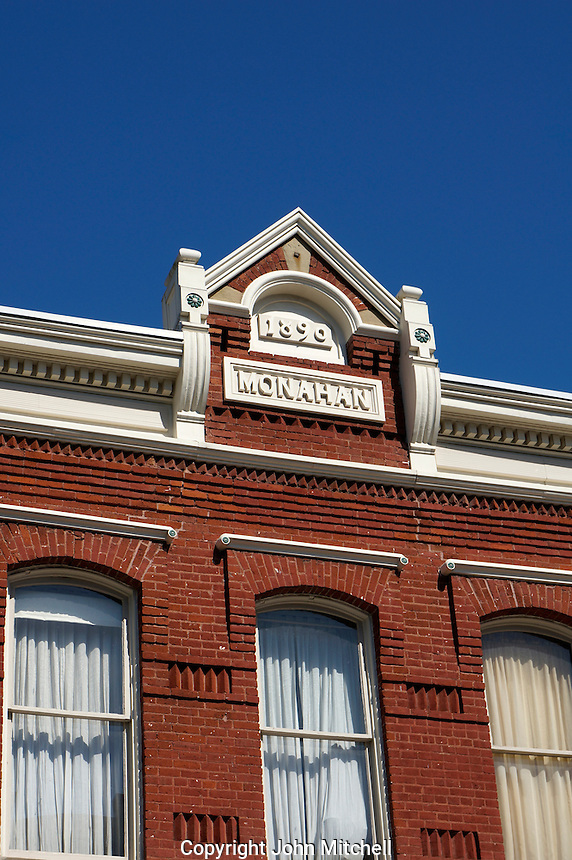 Monahan building in the historical Fairhaven district of Bellingham, Washington state, USA