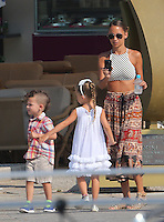 "Nicole Richie, Joel Madden & kids on vacation in Corsica aboard the ""Alibi""yacht - Exclusive"