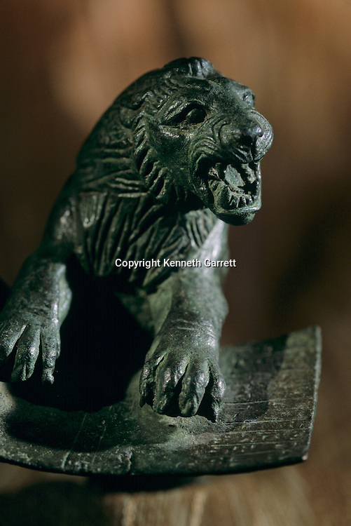 Urkesh; Hurrian; Empire; Syria; 2400 BC; Giorgio Buccellati; Archaeology; EAME; artifact; bronze; MET; lion with tablet found in temple, recovered in early 1900s from local village of Amudda